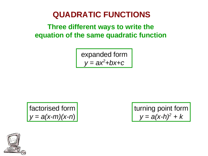 expanded form quadratic equation  expanded form y = ax 17 +bx+c - [PPT Powerpoint]